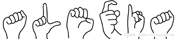 Alexia in Fingersprache für Gehörlose