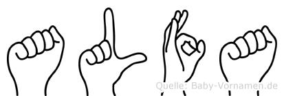 Alfa im Fingeralphabet der Deutschen Gebärdensprache