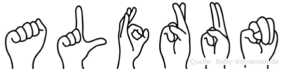 Alfrun in Fingersprache für Gehörlose
