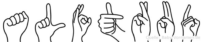 Alftrud in Fingersprache für Gehörlose