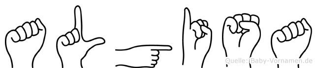 Algisa in Fingersprache für Gehörlose