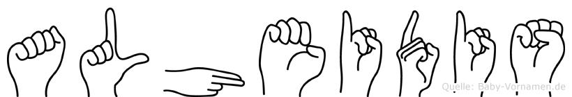 Alheidis in Fingersprache für Gehörlose