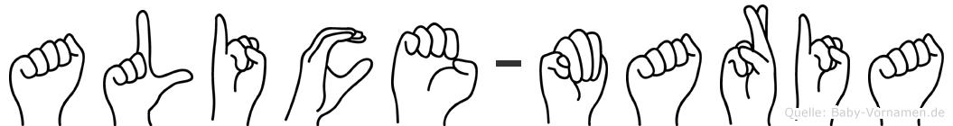 Alice-Maria im Fingeralphabet der Deutschen Gebärdensprache
