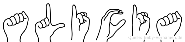 Alicia in Fingersprache für Gehörlose