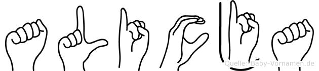 Alicja in Fingersprache für Gehörlose