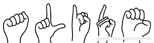 Alide in Fingersprache für Gehörlose