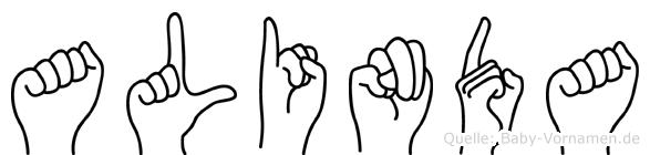 Alinda in Fingersprache für Gehörlose
