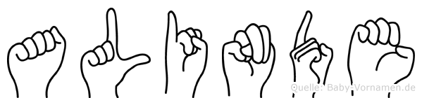 Alinde in Fingersprache für Gehörlose