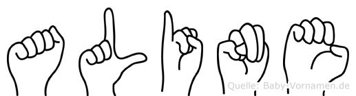 Aline in Fingersprache für Gehörlose