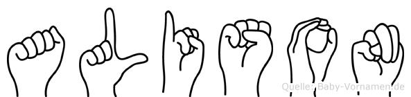 Alison in Fingersprache für Gehörlose