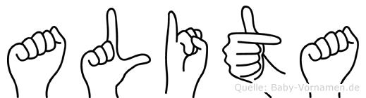 Alita in Fingersprache für Gehörlose