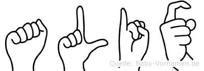 Alix im Fingeralphabet der Deutschen Gebärdensprache