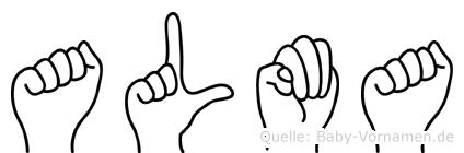 Alma in Fingersprache für Gehörlose