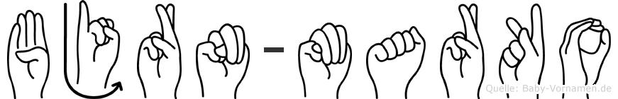 Björn-Marko im Fingeralphabet der Deutschen Gebärdensprache