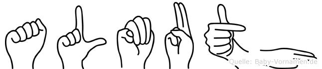 Almuth im Fingeralphabet der Deutschen Gebärdensprache