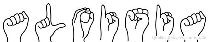 Aloisia in Fingersprache für Gehörlose