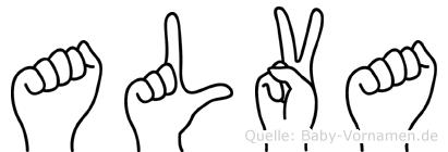Alva in Fingersprache für Gehörlose