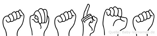 Amadea in Fingersprache für Gehörlose