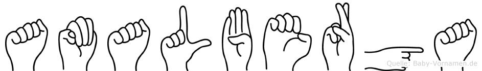Amalberga in Fingersprache für Gehörlose