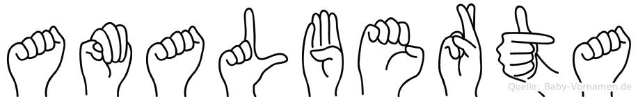 Amalberta in Fingersprache für Gehörlose