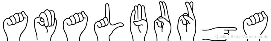 Amalburga in Fingersprache für Gehörlose