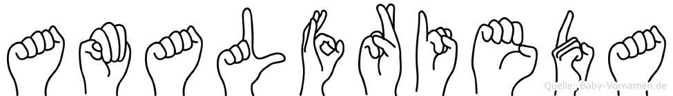 Amalfrieda in Fingersprache für Gehörlose