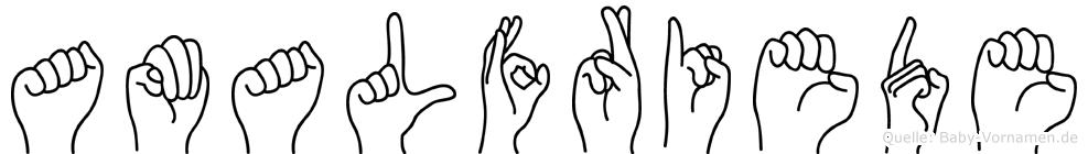 Amalfriede in Fingersprache für Gehörlose