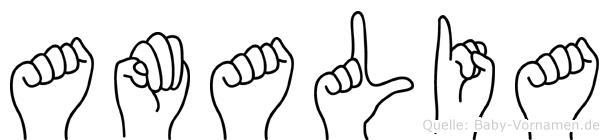 Amalia in Fingersprache für Gehörlose