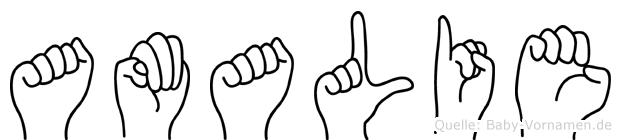 Amalie in Fingersprache für Gehörlose