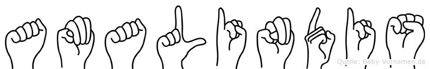 Amalindis in Fingersprache für Gehörlose