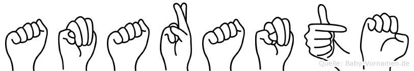 Amarante im Fingeralphabet der Deutschen Gebärdensprache