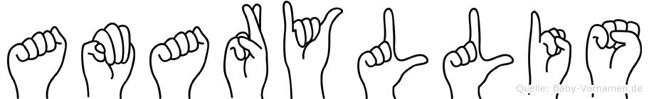 Amaryllis in Fingersprache für Gehörlose