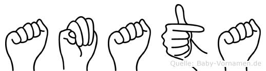Amata im Fingeralphabet der Deutschen Gebärdensprache