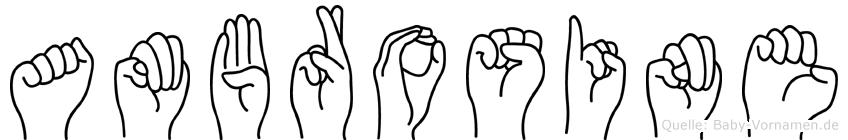 Ambrosine in Fingersprache für Gehörlose
