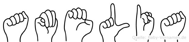 Amelia in Fingersprache für Gehörlose