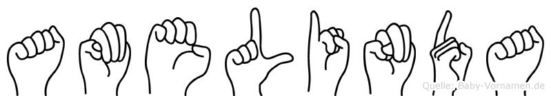Amelinda in Fingersprache für Gehörlose