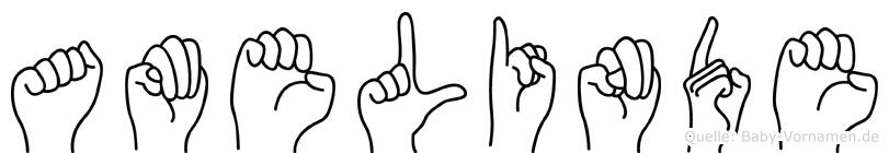 Amelinde in Fingersprache für Gehörlose