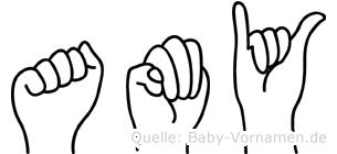 Amy in Fingersprache für Gehörlose