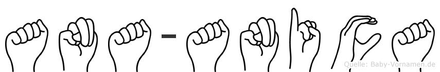 Ana-Anica im Fingeralphabet der Deutschen Gebärdensprache