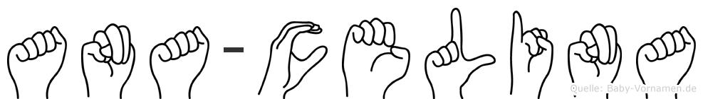 Ana-Celina im Fingeralphabet der Deutschen Gebärdensprache