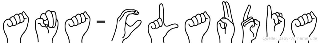 Ana-Claudia im Fingeralphabet der Deutschen Gebärdensprache