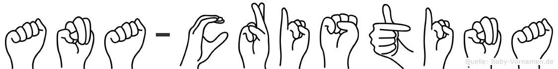 Ana-Cristina im Fingeralphabet der Deutschen Gebärdensprache