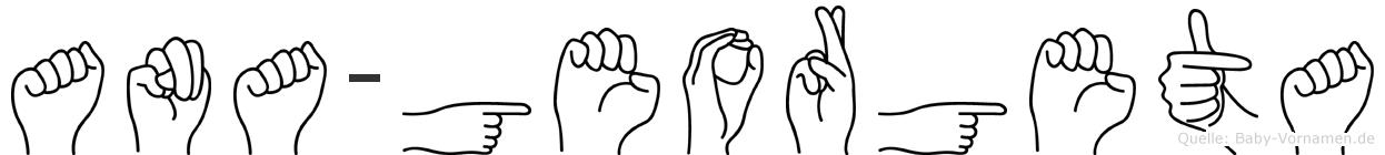 Ana-Georgeta im Fingeralphabet der Deutschen Gebärdensprache