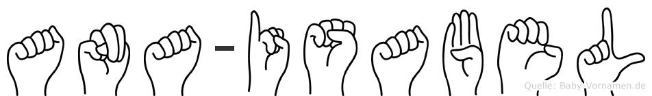 Ana-Isabel im Fingeralphabet der Deutschen Gebärdensprache