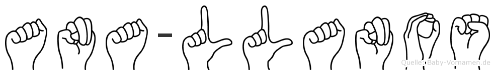 Ana-Llanos im Fingeralphabet der Deutschen Gebärdensprache
