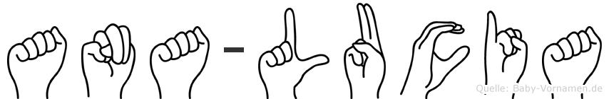 Ana-Lucia im Fingeralphabet der Deutschen Gebärdensprache