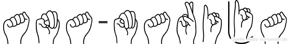 Ana-Marija im Fingeralphabet der Deutschen Gebärdensprache