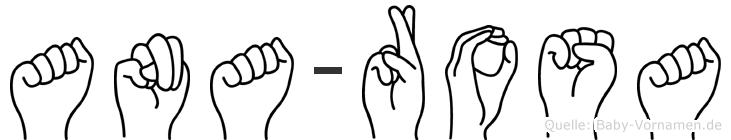 Ana-Rosa im Fingeralphabet der Deutschen Gebärdensprache