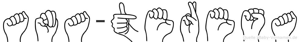 Ana-Teresa im Fingeralphabet der Deutschen Gebärdensprache