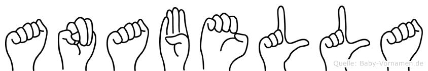 Anabella im Fingeralphabet der Deutschen Gebärdensprache